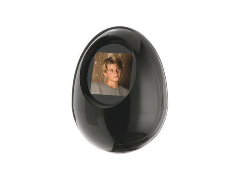 Digitaler 1,5 Zoll Bilderrahmen mit Uhr und Alarm (Schwarzes Ei ...