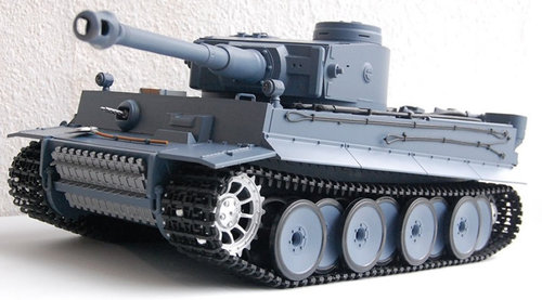 "RC Panzer ""German Tiger I"" Grau 1:16 von Heng Long 2,4GHz"
