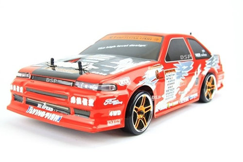 "RC Auto Drift Car ""HSP Flying Fish"" 1:10 2,4GHz 4WD mit LED-Beleuchtung"