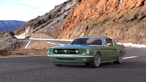 Vaterra 1967 Ford Mustang 4WD 1:10 2,4GHz RTR