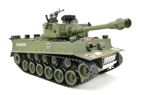 "RC Panzer ""German Tiger I"" Grün 1:20"